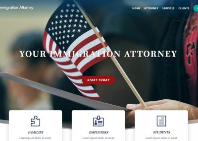Immigration Attorney Website