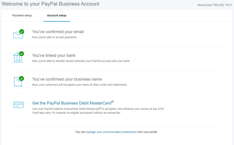 Verify a PayPal Business Account