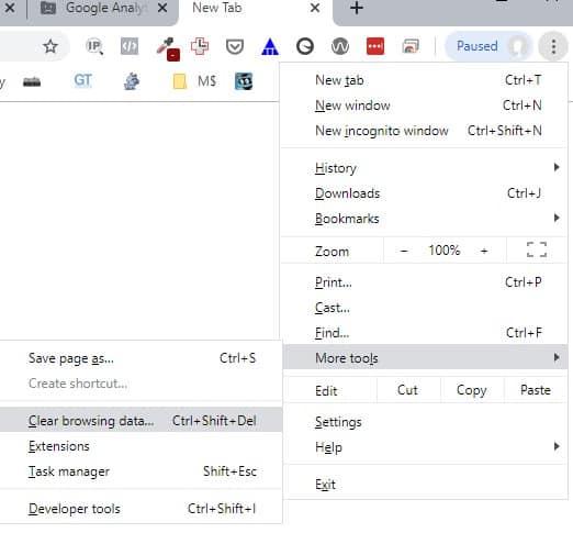 chrome browser cache