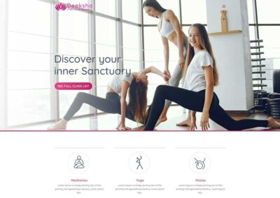 Yoga Studio (One-Pager)