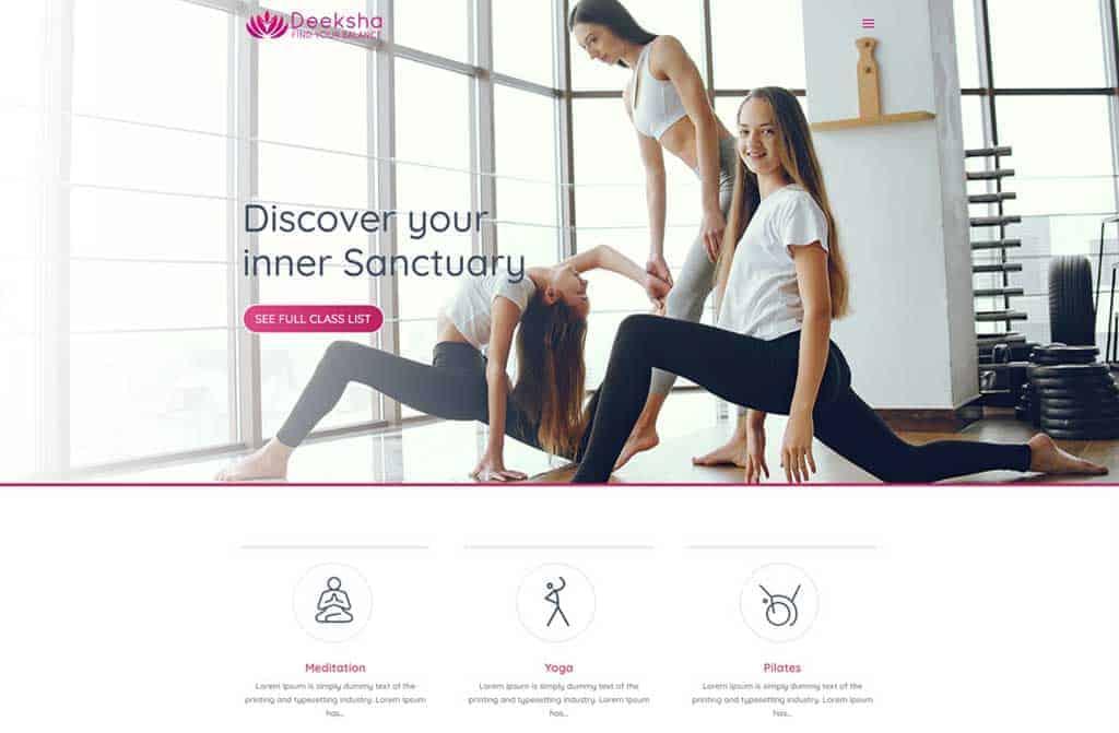 Yoga Studio (One-Pager)