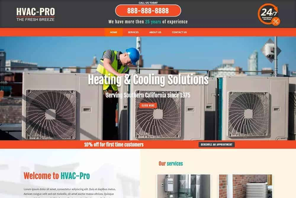 Website for HVAC Companies