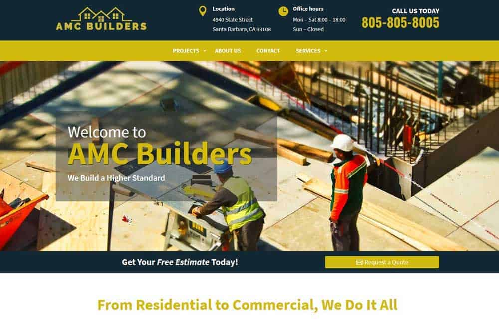 Website for Construction Company